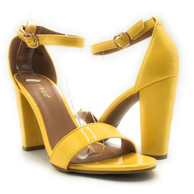 Bamboo Rampage-04Sa Yellow Color Heels Shoes for Women