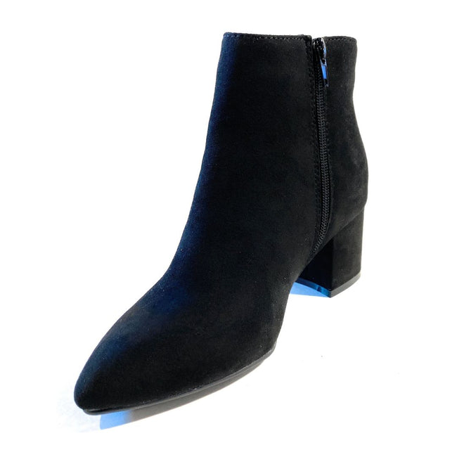 Bamboo Rapid-01 Black Color Boots Left Side view, Women Shoes