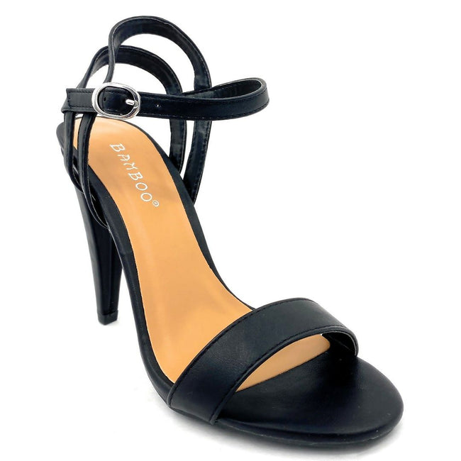 Bamboo Smashing-05s Black Color Heels Right Side View, Women Shoes