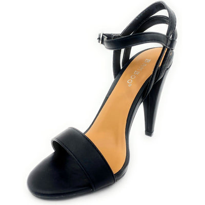 Bamboo Smashing-05s Black Color Heels Left Side view, Women Shoes