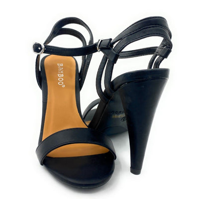 Bamboo Smashing-05s Black Color Heels Both Shoes together, Women Shoes