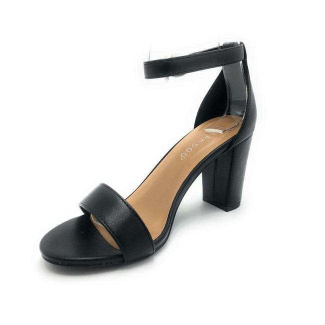 Bamboo Striking-01S Black Color Heels Shoes for Women