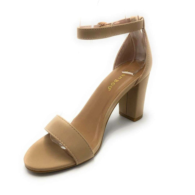 Bamboo Striking-01S Nude Color Heels Shoes for Women