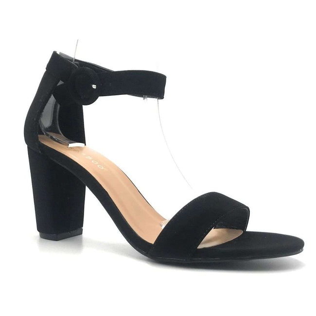 Bamboo Striking-21S Black Color Heels Shoes for Women
