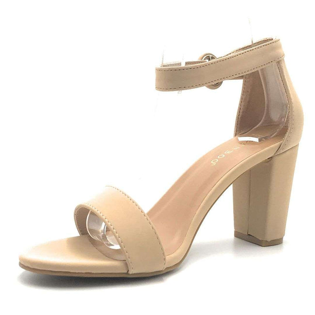 Bamboo Striking-21S Nude Color Heels Shoes for Women