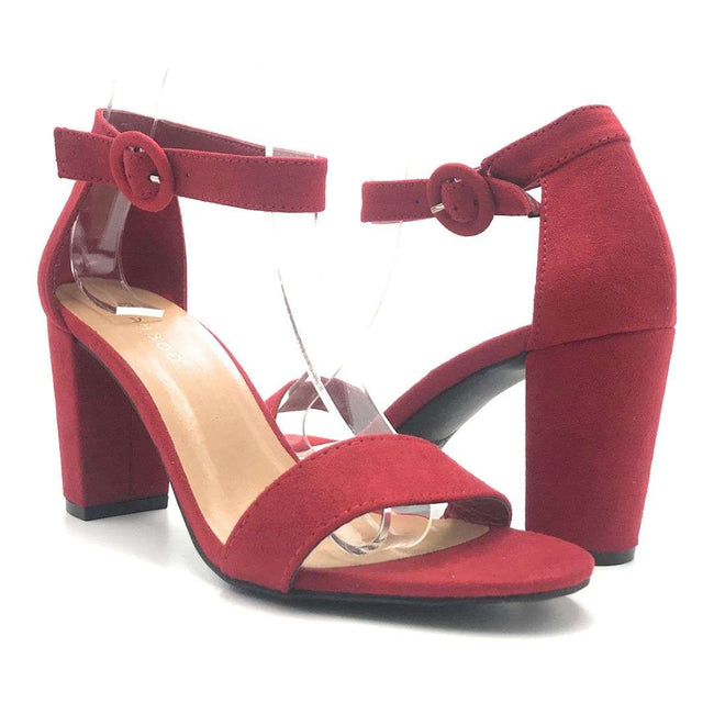 Bamboo Striking-21S Red Color Heels Shoes for Women