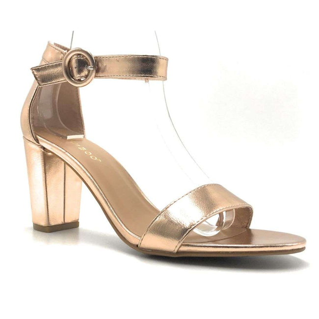 Bamboo Striking-21S Rose Gold Color Heels Shoes for Women