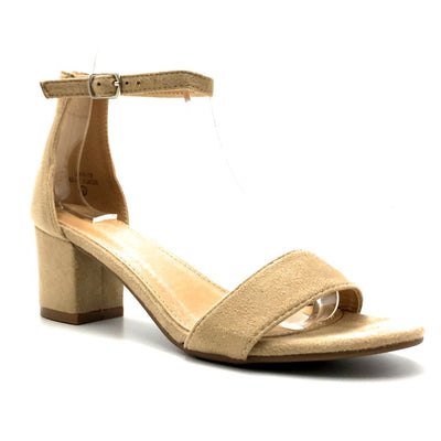 Bella Marie Jean-08 Beige Suede Color Heels Right Side View, Women Shoes