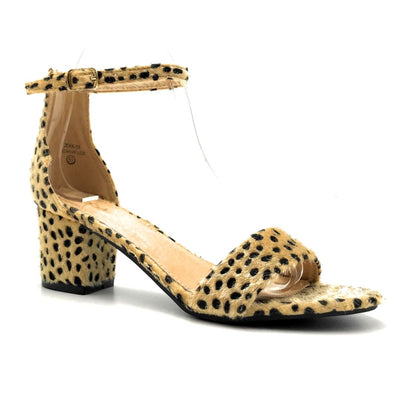 Bella Marie Jean-08 Cheetah Hair Suede Color Heels Right Side View, Women Shoes
