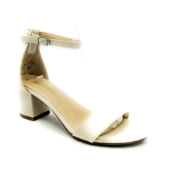 Bella Marie Jean-08 Nude Color Heels Right Side View, Women Shoes