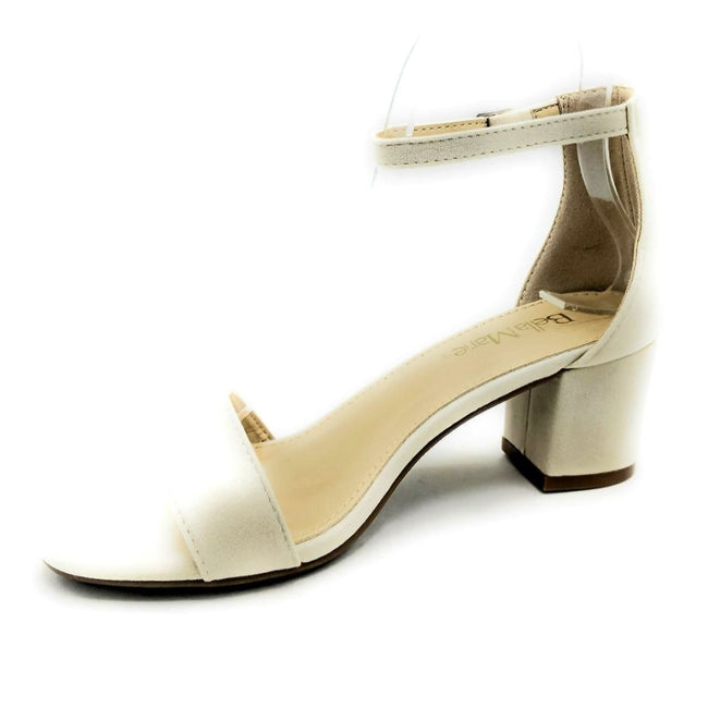 Bella Marie Jean-08 Nude Color Heels Left Side view, Women Shoes