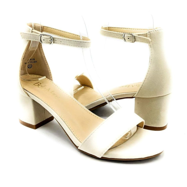 Bella Marie Jean-08 Nude Color Heels Both Shoes together, Women Shoes