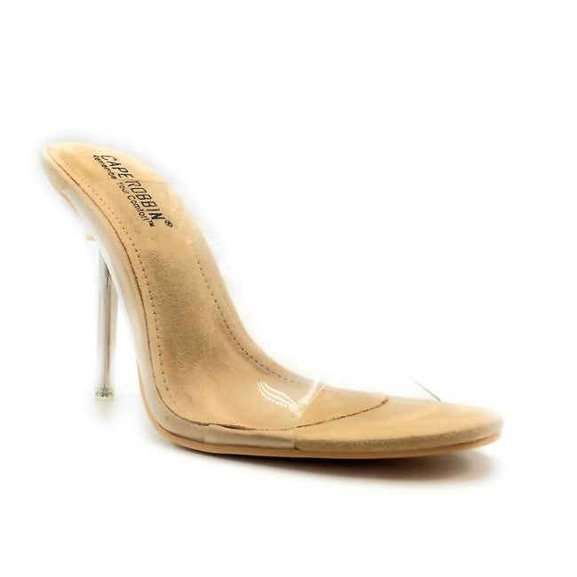Cape Robbin Allure-m Nude Color Heels Right Side View, Women Shoes