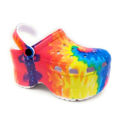 Cape Robbin Gardener Multi Color Flat-Sandals Right Side View, Women Shoes