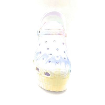 Cape Robbin Gardener Tie Dye Color Flat-Sandals Front View, Women Shoes