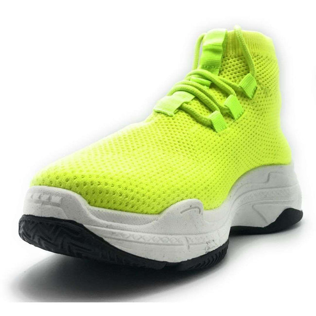 Cape Robbin Its Real Lime Color Fashion Sneaker Shoes for Women