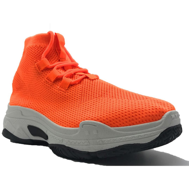 Cape Robbin Its Real Orange Color Fashion Sneaker Shoes for Women