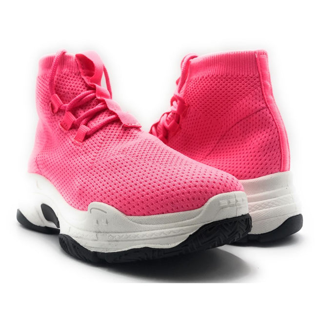 Cape Robbin Its Real Pink Color Fashion Sneaker Shoes for Women