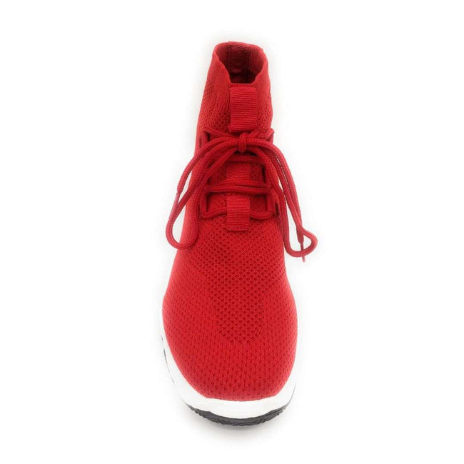 Cape Robbin Its Real Red Color Fashion Sneaker Shoes for Women