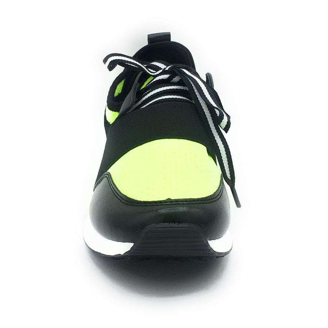 Cape Robbin Lakers Lime Color Fashion Sneaker Shoes for Women