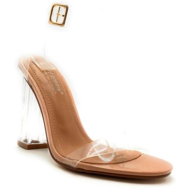 Cape Robbin Maria-2 Nude Color Heels Right Side View, Women Shoes