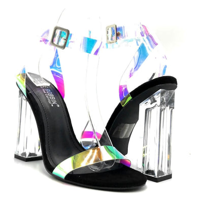 Cape Robbin Mercy Black Color Heels Both Shoes together, Women Shoes