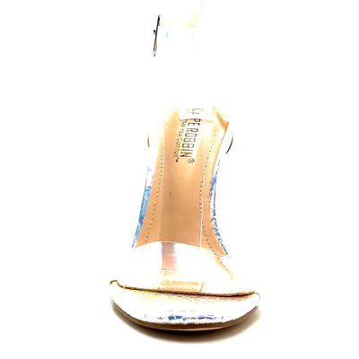 Cape Robbin Mercy Ice Color Heels Front View, Women Shoes