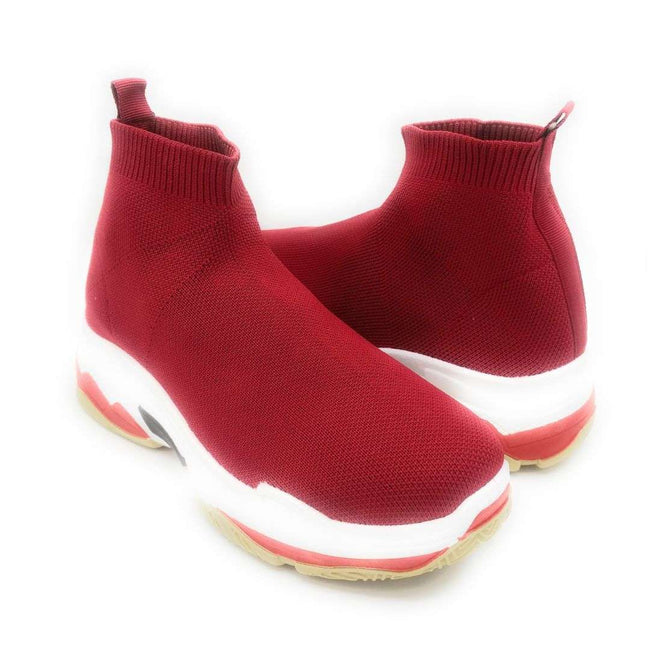 Cape Robbin Tidal Red Color Fashion Sneaker Shoes for Women