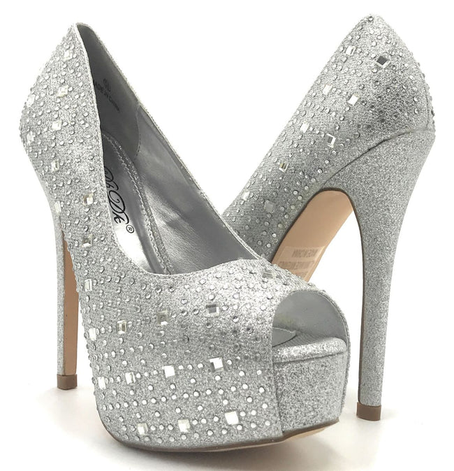 DBDK Brodie-1 Silver Color Heels Shoes for Women