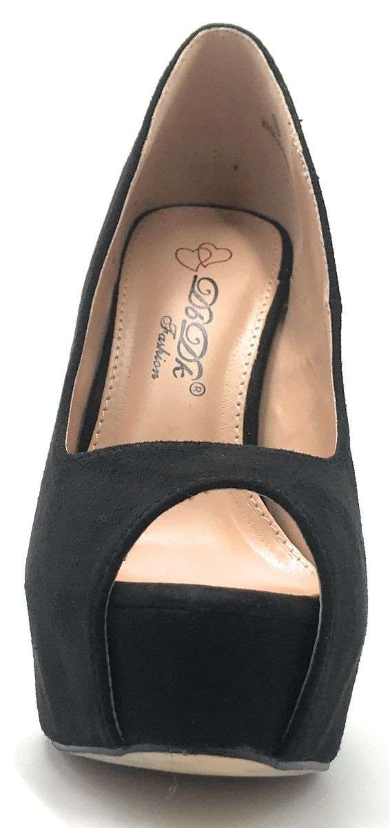 DBDK Brodie-3 Black Color Heels Shoes for Women