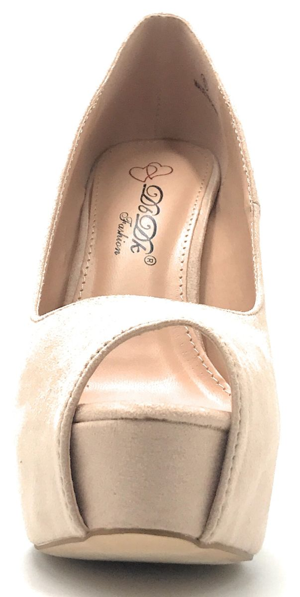 DBDK Brodie-3 Nude Color Heels Shoes for Women