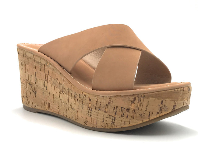 DBDK Clair-1 Nude Color Wedge Shoes for Women