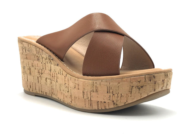 DBDK Clair-1 Tan Color Wedge Shoes for Women