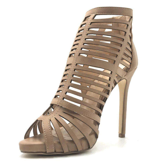DBDK Laure-3 Taupe Color Heels Shoes for Women
