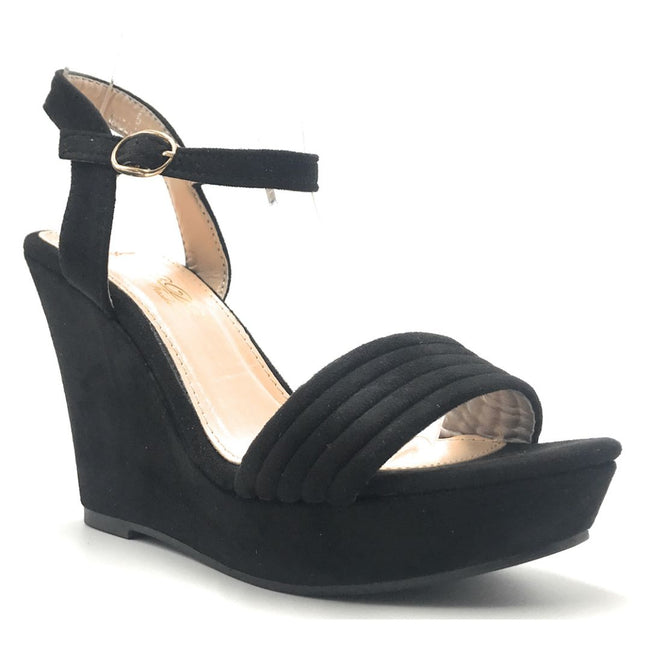 DBDK Laurie-1 Black Color Wedge Shoes for Women