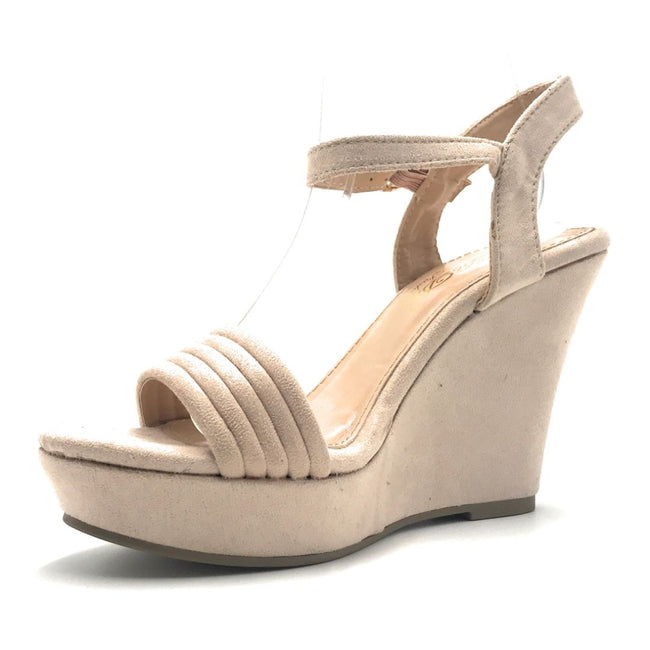 DBDK Laurie-1 Nude Color Wedge Shoes for Women