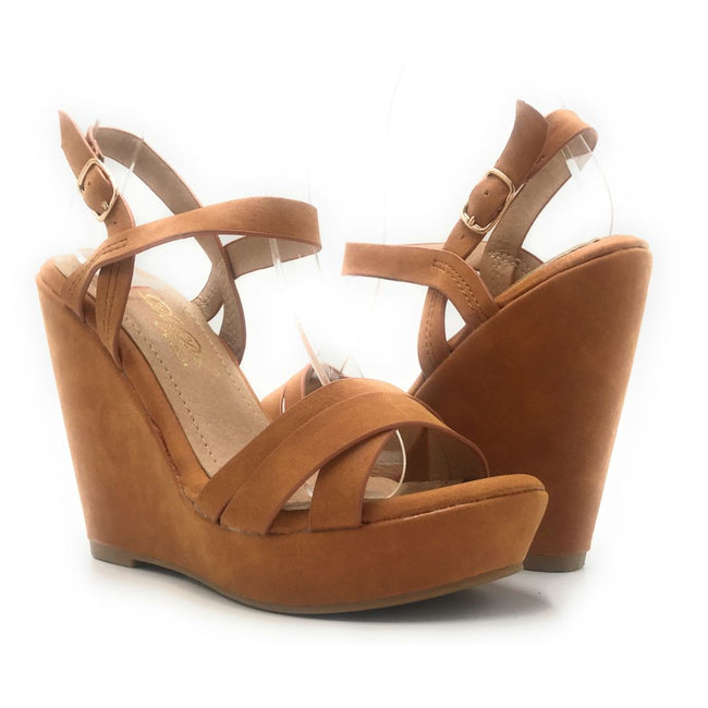 DBDK Loris-3 Camel Color Wedge Shoes for Women