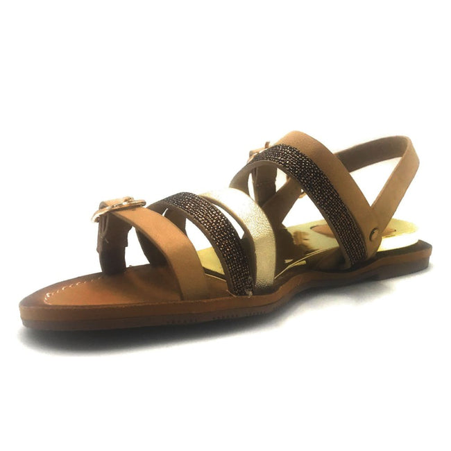 DBDK Onna-1 Beige Color Flat-Sandals Shoes for Women