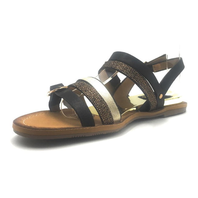 DBDK Onna-1 Black Color Flat-Sandals Shoes for Women