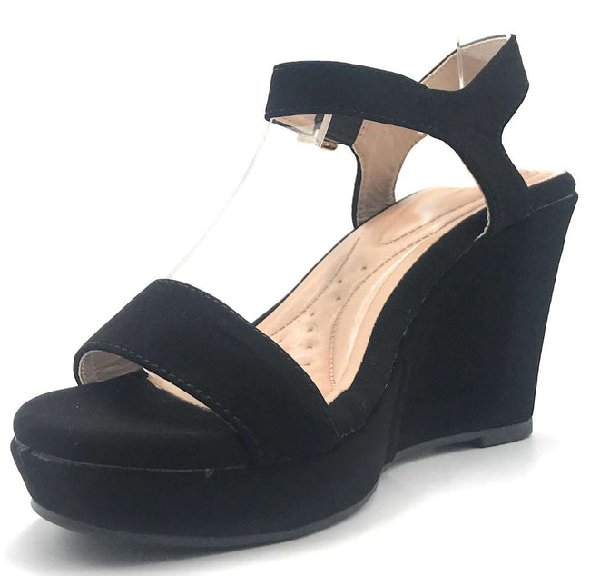 DBDK Savina-5 Black Color Wedge Shoes for Women