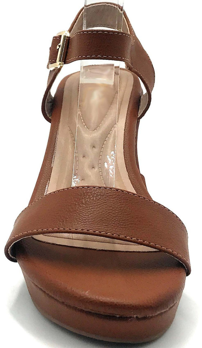 DBDK Savina-5 Camel Color Wedge Shoes for Women