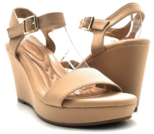 DBDK Savina-5 Nude Color Wedge Shoes for Women