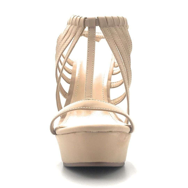 DBDK Selia-5 Nude Color Wedge Shoes for Women