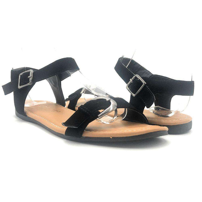 DBDK Vesta-2 Black Color Flat-Sandals Shoes for Women