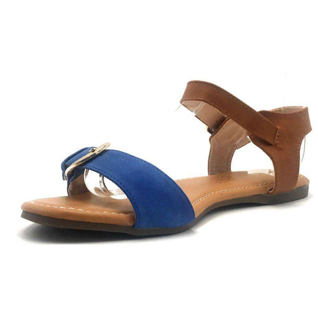 DBDK Vesta-2 Blue Color Flat-Sandals Shoes for Women