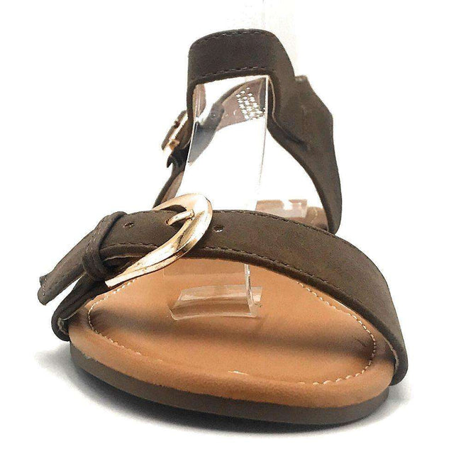 DBDK Vesta-2 Brown Color Flat-Sandals Shoes for Women