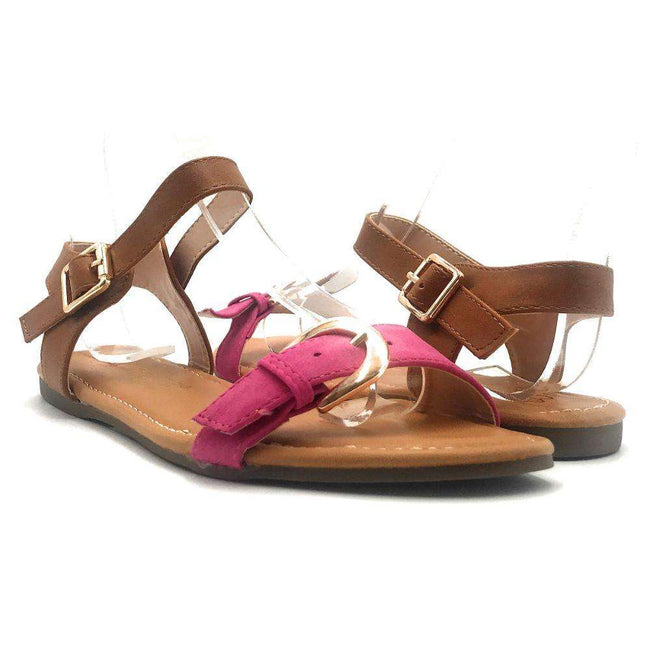 DBDK Vesta-2 Fuchsia Color Flat-Sandals Shoes for Women