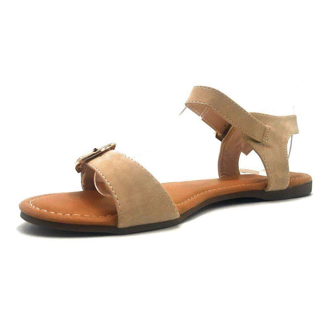 DBDK Vesta-2 Nude Color Flat-Sandals Shoes for Women