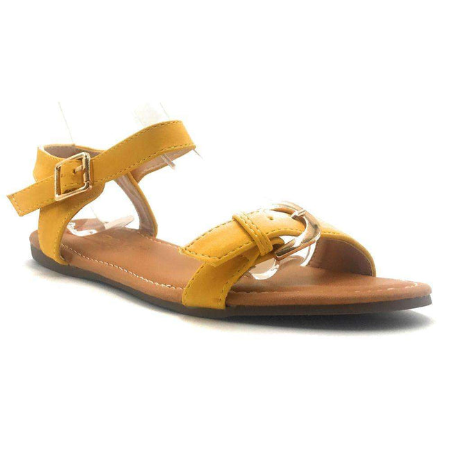 DBDK Vesta-2 Yellow Color Flat-Sandals Shoes for Women