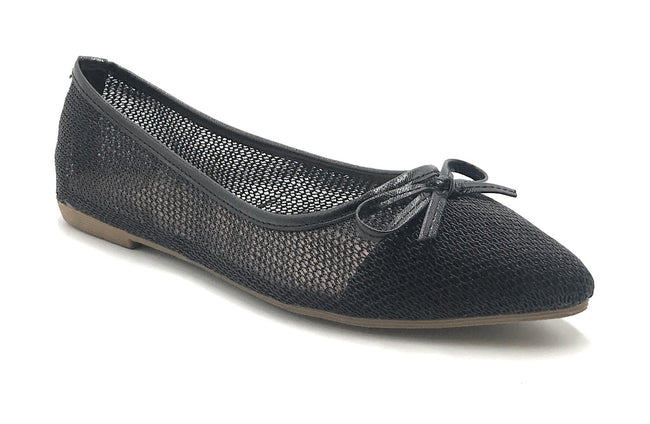 DbDk Dew-1 Black Color Ballerina Shoes for Women